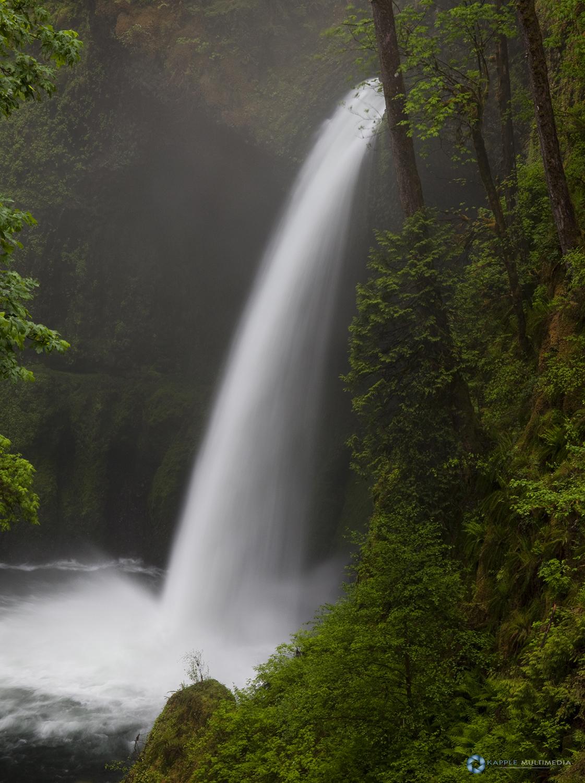 Cascading Metlako Falls Eagle Creek, Columbia Gorge National Scenic Area, Oregon, U.S.A.