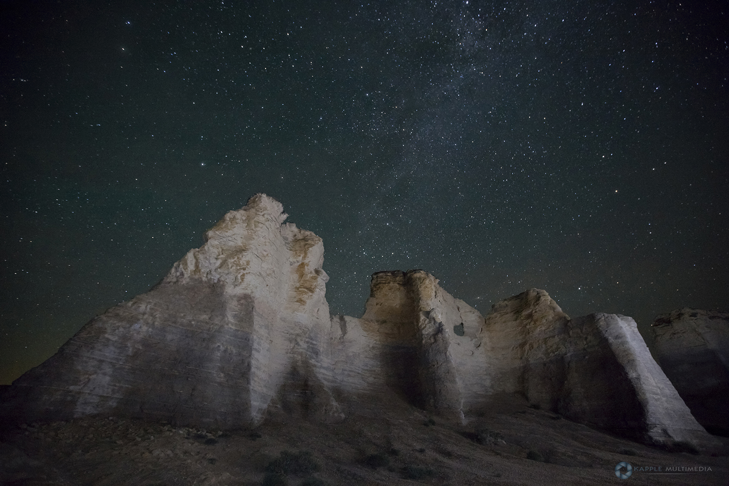 The Chalk Pyramids and Monument Rocks in Kansas