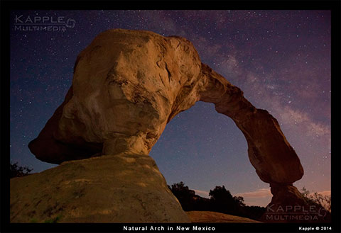 Cox Canyon Arch, Aztec Arch