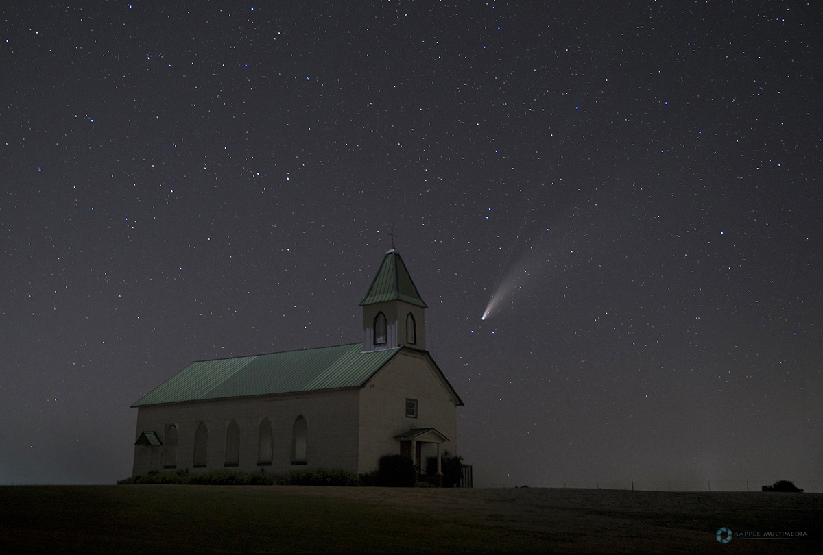 Comet Neowise and church