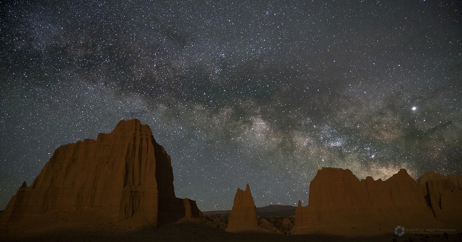 Capital Reef, Cathedral Valley at Night