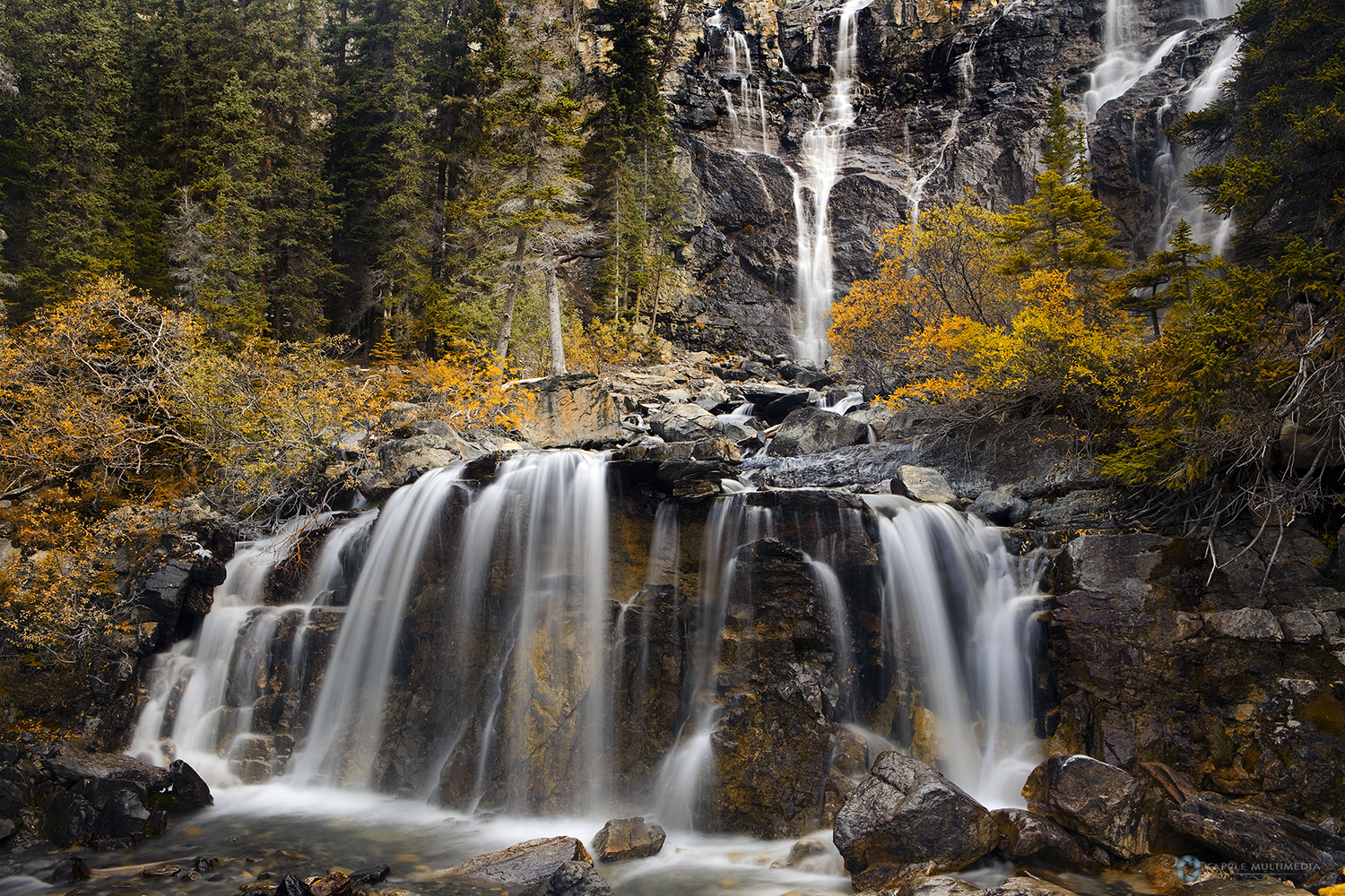 Tangle Falls, Jasper National Park, Alberta Canada