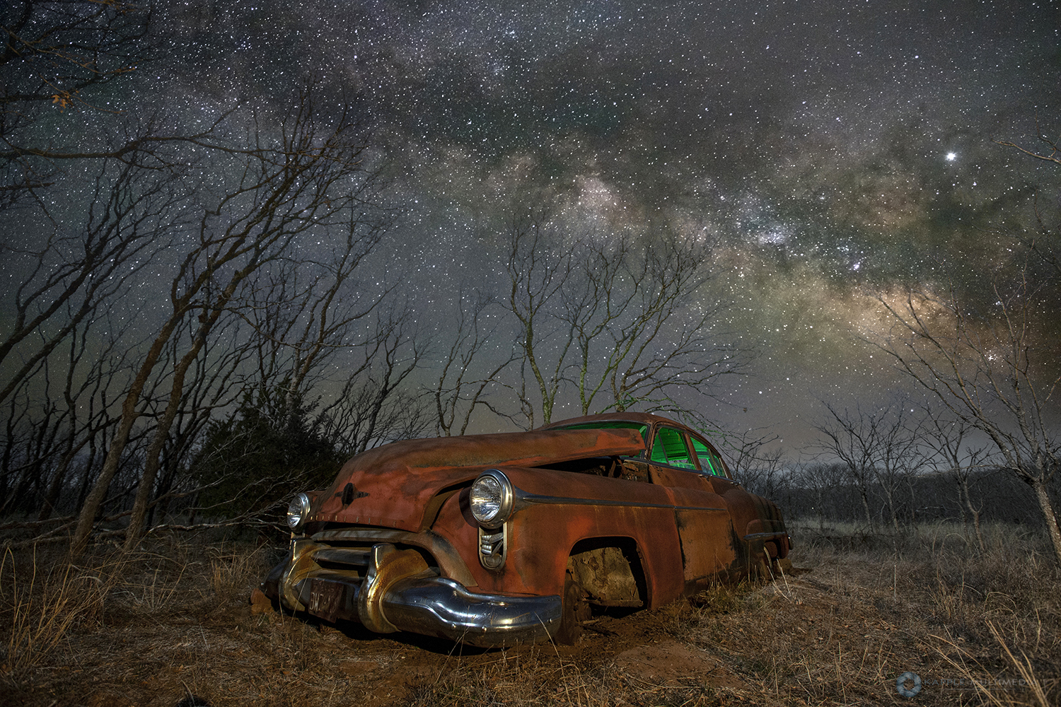 Old Hudson under the Milky Way