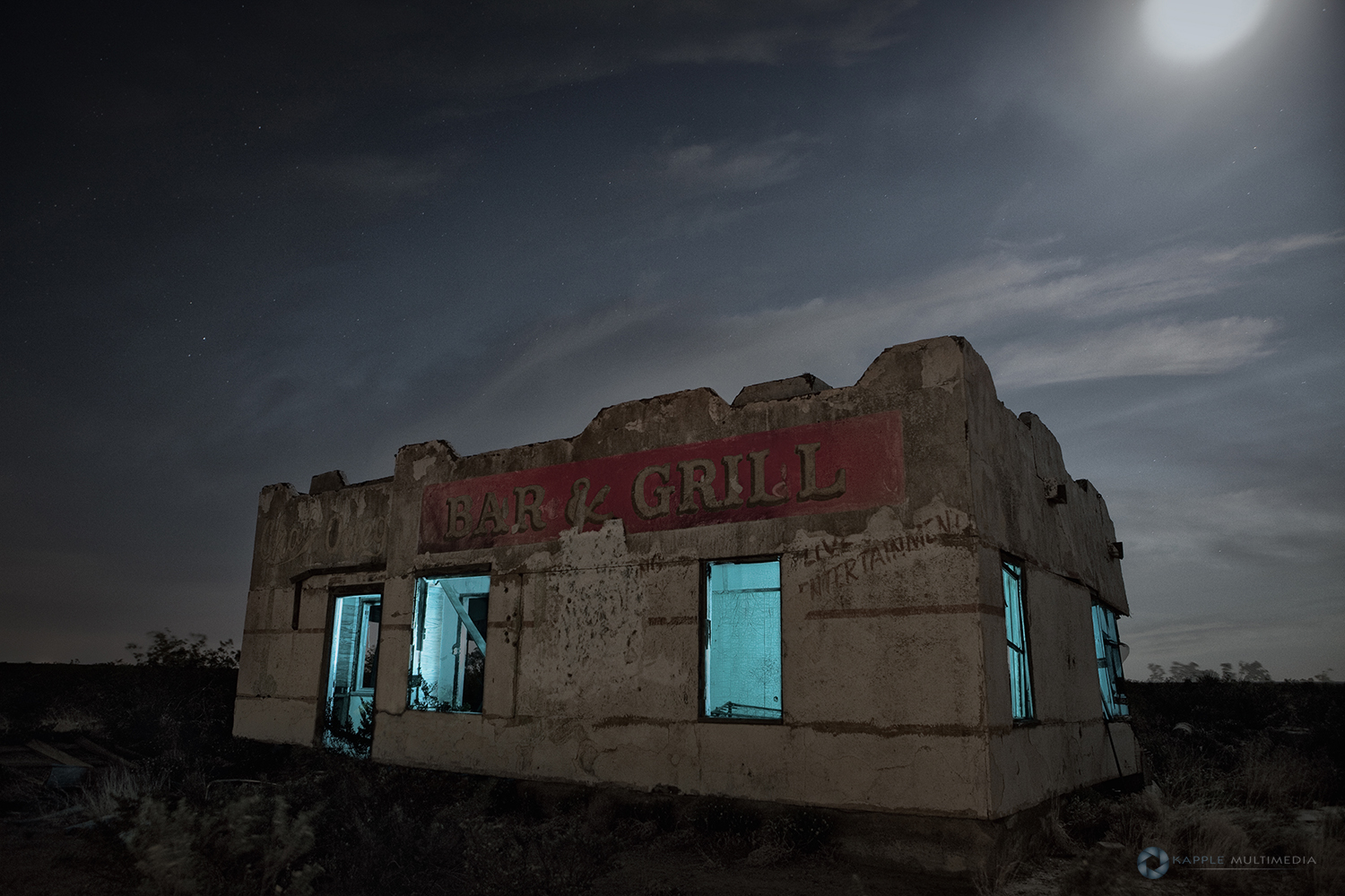 Abandoned Chata Ortega's Bar & Grill Toyah, Texas