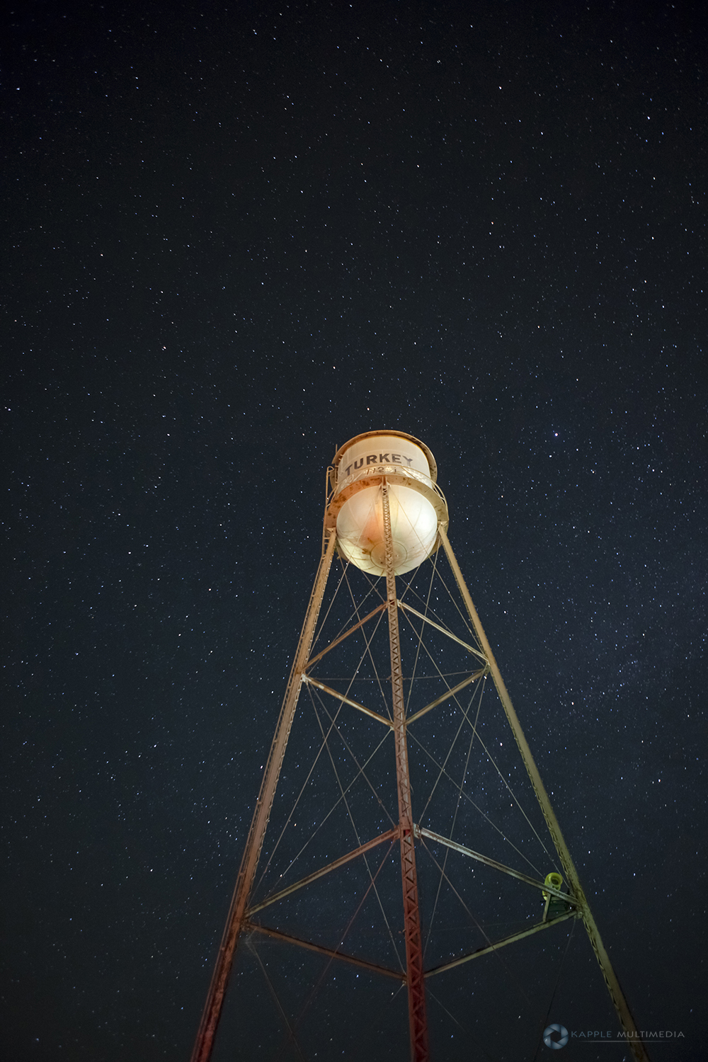 Old retro water tower, west Texas, USA